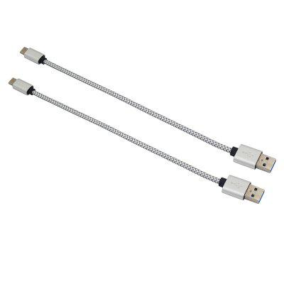 Mini Smile 2PCS Quick Charge USB3.1 Type-C To USB 2.0 Charging Data Transfer Cables (25cm)