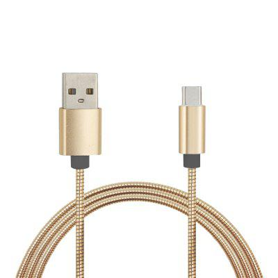 Mini Smile Quick Charge Stainless Steel Spring Type-C Usb 3.1 To Usb Charging Cable with High-Speed Data Transmission