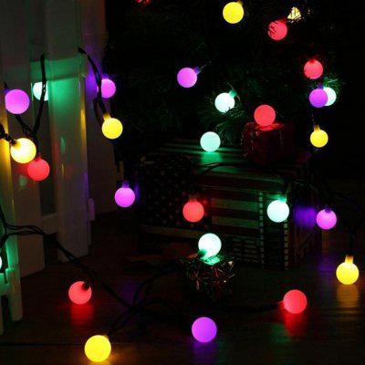 Jiawen Christmas Lights String 5m 50 LEDs RGB Holiday Ball Światło AC 220V
