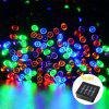 SUPli Solar Battery Powered Christmas String Lights 10M 100 LED Dual Power Decorative Fairy String Lights - COLORFUL