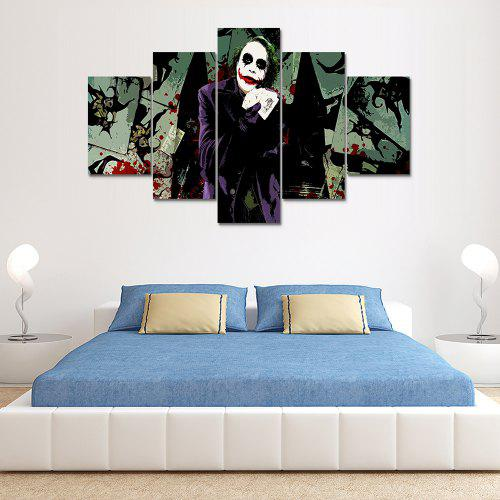 Joker B Canvas Print Painting Home Decoration Wall Art Picture 5 Panel