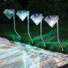 Youoklight Diamond Solar LED RGB Lumina gradina de gradina 4PCS - RGB