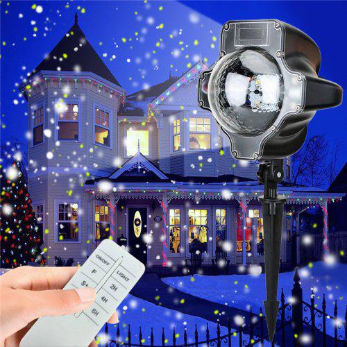 1 Pc Led Snow Projector Light Waterproof Rotatable Light With Wireless Remote Control For Christmas Birthday Halloween Lights & Lighting