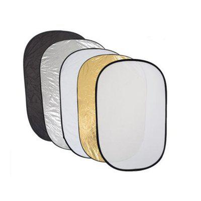 60 x 90CM Folding Portable Photography Oval Five in One Reflector