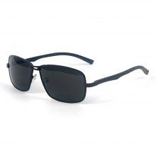 TOMYE P1026 Metal Square Frame Polarized Sunglasses for Men