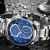 Reloj de cuarzo multifuncional Cadisen 9054 Fashion Men Big Dial - AZUL Y BLANCO