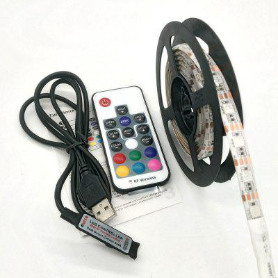 ZDM 5V 15 - 30W 5050 100 / 200cm USB wodoodporna RGB LED Light Strip z 17 Key IR Kontroler DC 5V