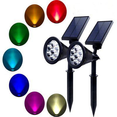 KWB LED Solar Lawn Lamp Outdoor RGB Garden Light 2PCS