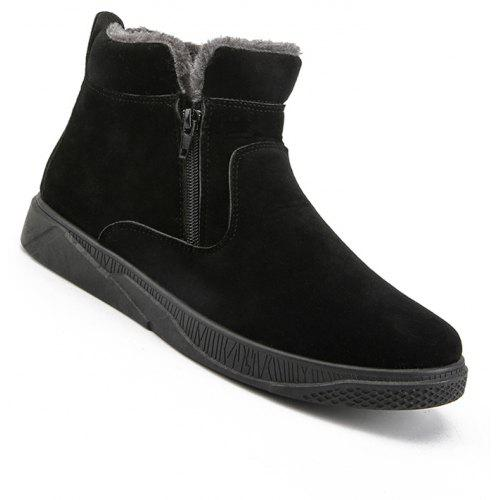 1adc8f8f6092 Men Casual Fashion Outdoor Leather Warm Comfortable Flat Suede Ankle Boots