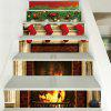 Christmas Fireplace Stockings Pattern Decorative Stair Decal 6PCS - COLORMIX