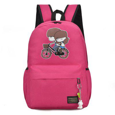 Light Burden Bag Cartoon Cute Boys and Girls Pattern Backpack