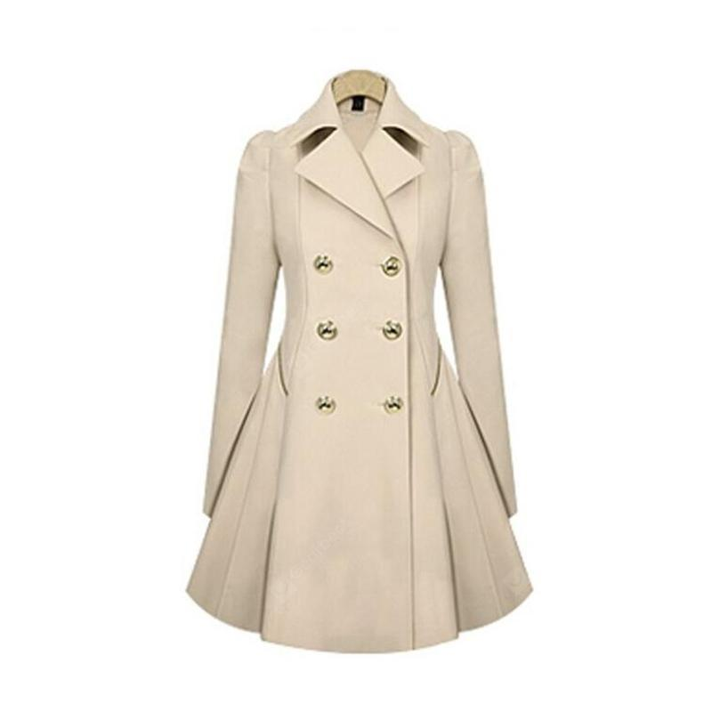 Trench Women Coat Navy Peacoat manga larga de invierno