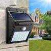 Great Gift Solar Powered Waterproof 20 LED Motion Sensor Wall Light for Patio Garden - BLACK