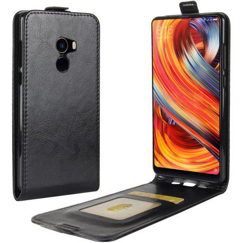 Durable Crazy Horse Pattern Up and Down Style Flip Buckle PU Leather Case for Xiaomi Mi Mix 2