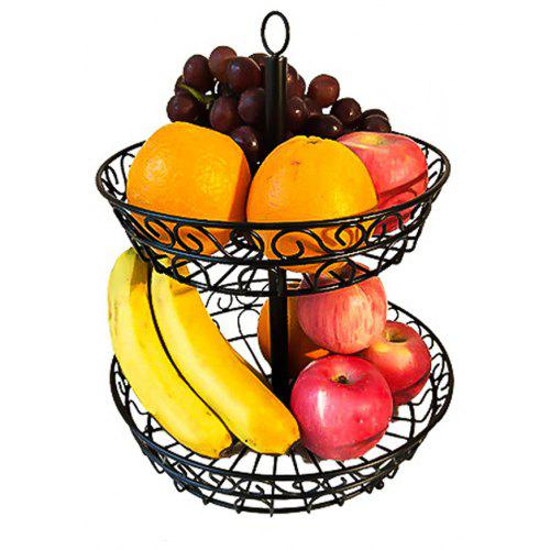 2 Tier Countertop Fruit Basket Holder Decorative Bowl Stand Fruits  Vegetables Snacks Household Item | Gearbest