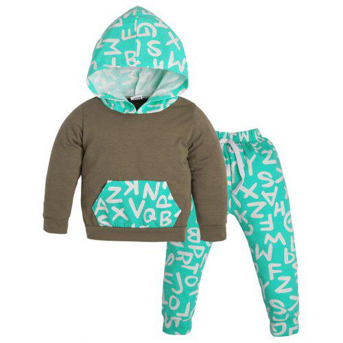 f90445e09 2pcs Baby Kid Boy Girl Hoodie Even The Clothes Tops Long Pants Outfit Set  Cotton Clothes | Gearbest