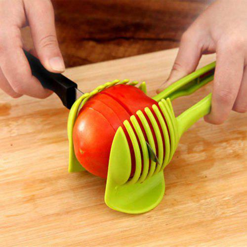 Handheld Fruit Slicer Tomato Cutter Lemon Potato Food Egg Peel Onion Holder - $3.90 Free Shipping|Gearbest.com