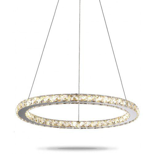 Chandeliers Led K9l Crystal Chandeliers Light Brief Living Room Lamps Led Crystal Circle Chandeliers Lighting Fixture Pendant 110-240v Lights & Lighting