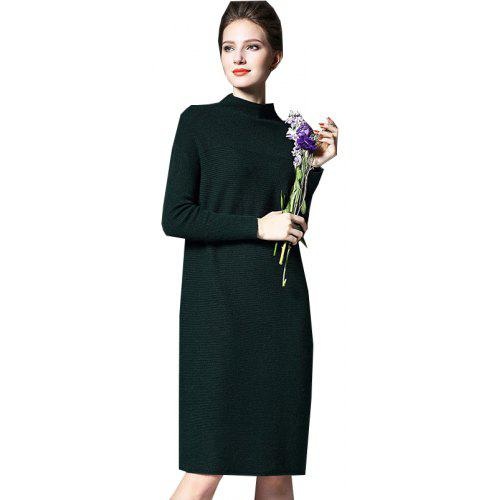 dc5045ef031 Women s Sweater Dress Solid Color Long Sleeve Plus Size Dress -  27.56 Free  Shipping