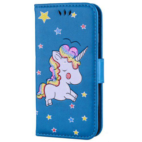 the latest 4ae54 b6474 Flash Powder Unicorn Premium PU Leather Phone Case for iPhone 6 / 6S