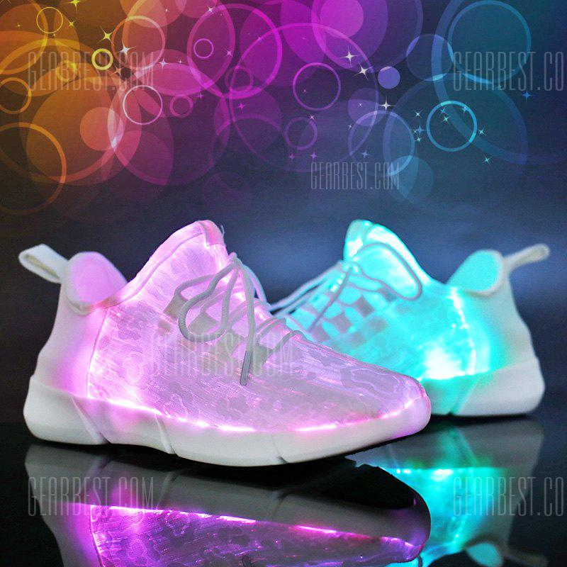 ZEACAVA Male and Female Models All Fiber Optic Light Shoes 7 Colors