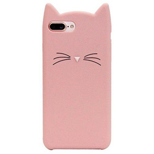 on sale d0c5f 1fc52 Pattern Back Cover Beard Cat Soft Silicone Case for iPhone 8 Plus / 7 Plus