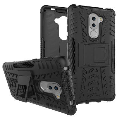 Back cover For Huawei Honor 6X Case Silicone TPU+PC Kiskstand Daul Hard Armor Impact  Phone Case