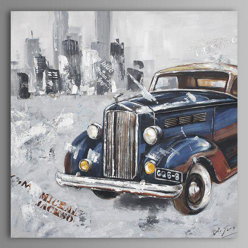 XiangYunChengFeng Retro Classic Car Pattern Canvas Oil Painting for Wall  Decor