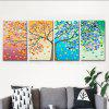 Modern Abstract Frameless Canvas Art Print for Home Decoration 4pcs - COLORFUL