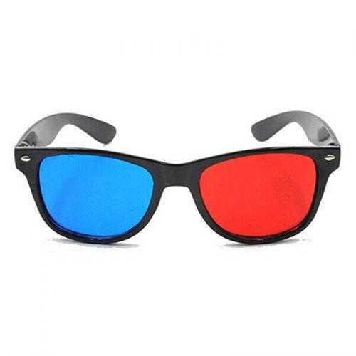 aad5199e26 Blue and Red 3D Eyeglasses Cyan Anaglyph Simple Style Extra Upgrade Style  To Fit Over Prescription Glasses for Movies Games -  1.20 Free  Shipping
