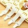 DIHE Bed Sheet Fixing Band Retaining Clip 4pcs - WHITE