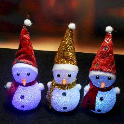 JUEJA Novelty  LED Glowing Christmas Snowman RGB Colour Night Light for Children Romantic Home Decorative