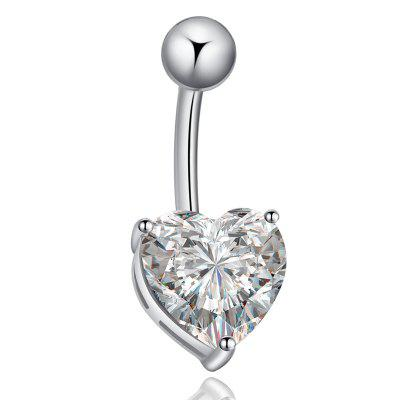 KUNIU Love Fashion Zircon Belly Button Ring