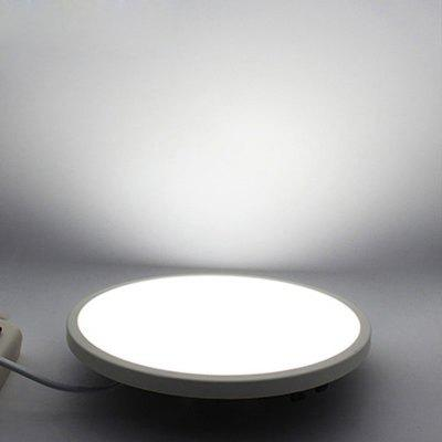 JIAWEN Ultrafino 8W Panel LED Luz Techo Orificio Rango Tamaño Lámpara Ajustable Empotrable Downlight AC85 - 265V