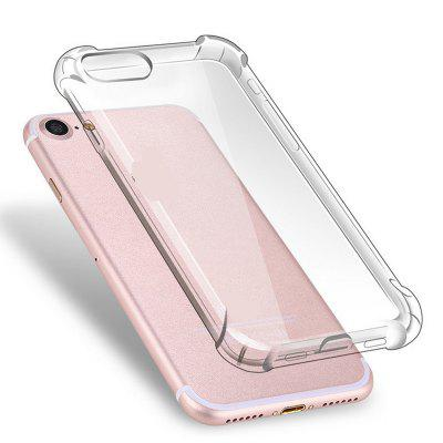 Anti-drop Canto Transparente TPU Soft Phone Case para iPhone 7/8