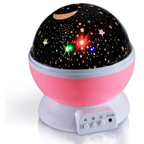 BRELOBG DC 5V Star Light Rotating Projector Lamp for Kids Bedroom
