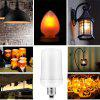 SUPli Fire Flame Lamp Bulb Atmosphere Decorative Bulb Fire Flickering Lamp - WARM WHITE