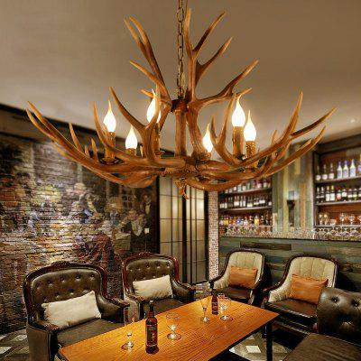 Retro Resin Antlers Droplight