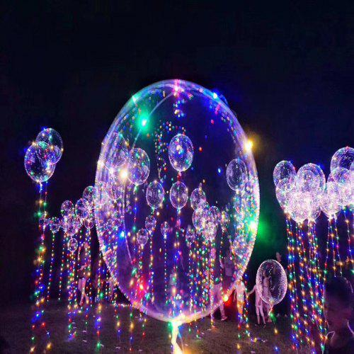 Christmas Party Balloons Led Lights Up Bobo Transpa Colorful Flash String Decorations City Wedding Home Cour