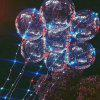Christmas Party Balloons LED Lights Up BOBO Transparent Colorful Flash String Decorations City Wedding Home Cour - COLORFUL