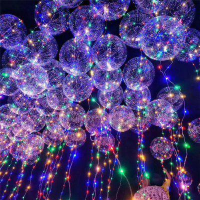 Christmas Party Bobo Balloons with LED String Light 3pcs