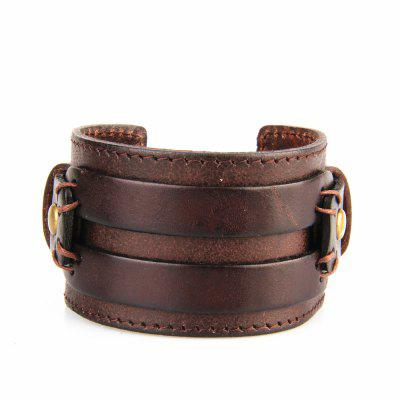 Moda Jóias Originalidade Men Hand Wear Bracelet Leather Bracelet