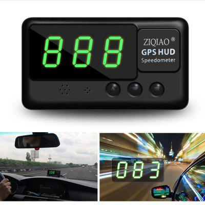 ZIQIAO Universal Car HUD Head-Up Display GPS Velocímetro - Negro