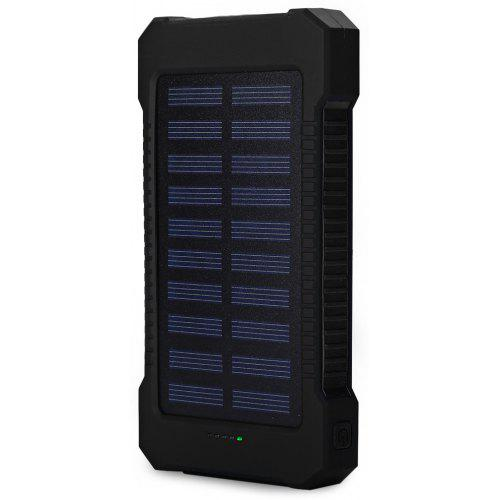 Home 10000mah Solar Outdoor Compass Buttom Design Flashlight Power Bank External Battery Hiking Backup For Xiaomi Mi Iphone Samsung 100% Guarantee