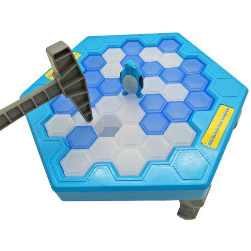 Gearbest Ice Block Breaking Game Save Penguin Table Game - BLUE