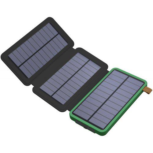 Solar Charger 8000mAh Solar Power Bank with Foldable Solar Panel Portable  Rugged Water-Resistant Shockproof 0e35d71724