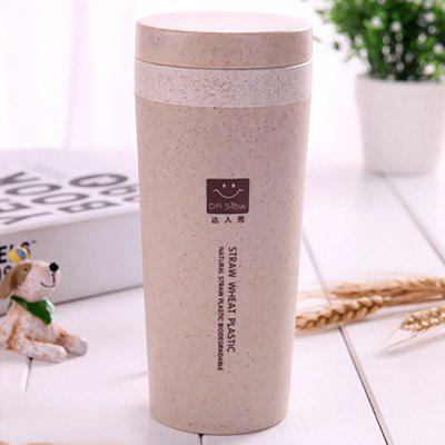 DIHE Wheat Straw Double Deck Vacuum Cup Cover Band Proteção Ambiental