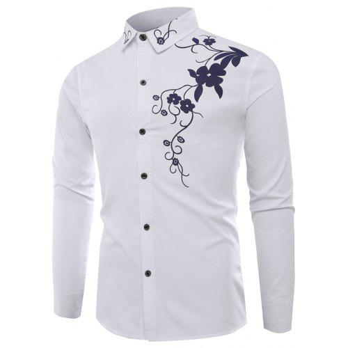 cbd04564cc3 Fashion Lapel Leisure Bauhinia Casual Men S Long-Sleeved Shirt Men -  26.89  Free Shipping
