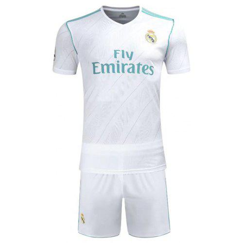 6001ec8c9 Real Madrid Jerseys 16-17-18 Home Short Sleeve Football Suit