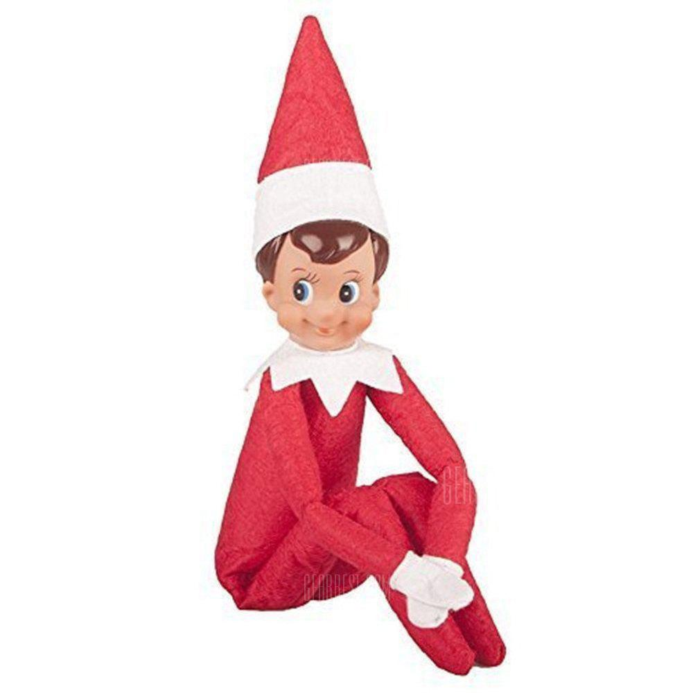 Gearbest Elf Doll Plush Toy Multi Colors Christmas Gift for Kids - RED